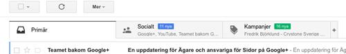 Gmail tabbar